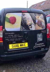 eggardon country cooks delivery van